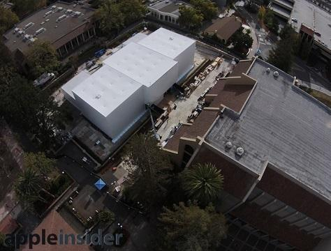 FlintCenter後方的神秘白色建築。(圖:AppleInsider)