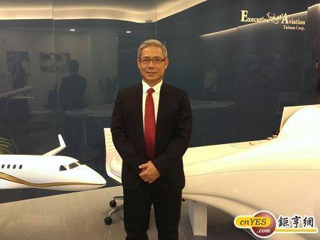 飛特立航空董事長楊宿智。(圖:鉅亨網記者王以慧攝)