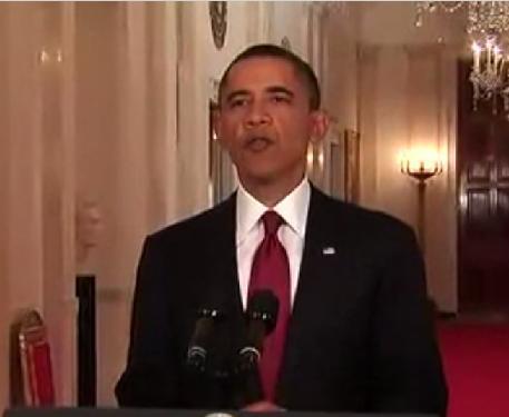 美國總統歐巴馬發布新聞記者會。(圖片來源:維基百科)
