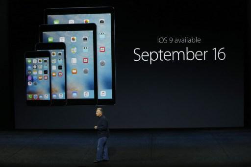 蘋果iOS9上線,預料將影響谷歌與出版商手機廣告營收(圖:AFP)