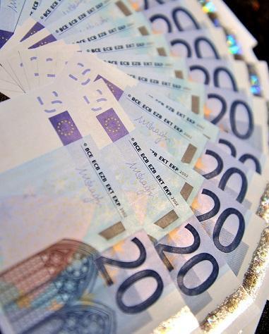歐元鈔票。(圖:AFP)
