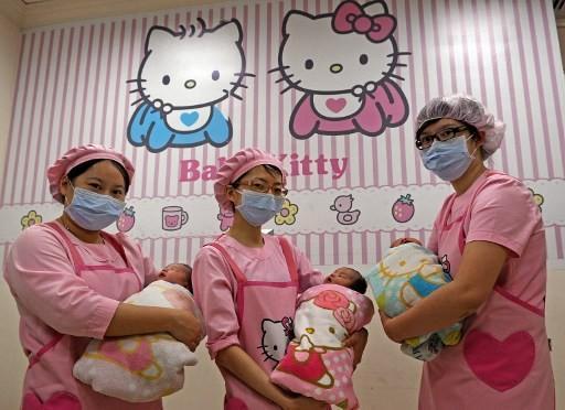 台灣出生率逐年下降      (圖:AFP)