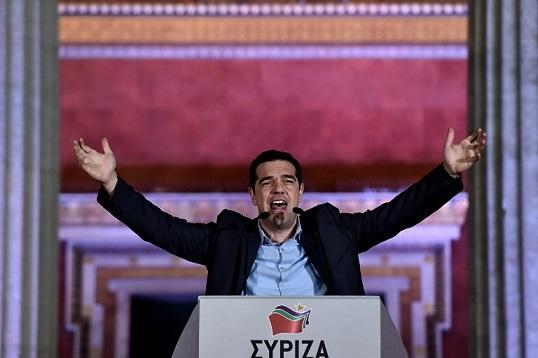 Syriza領導人Alexis Tsipras (圖:AFP)