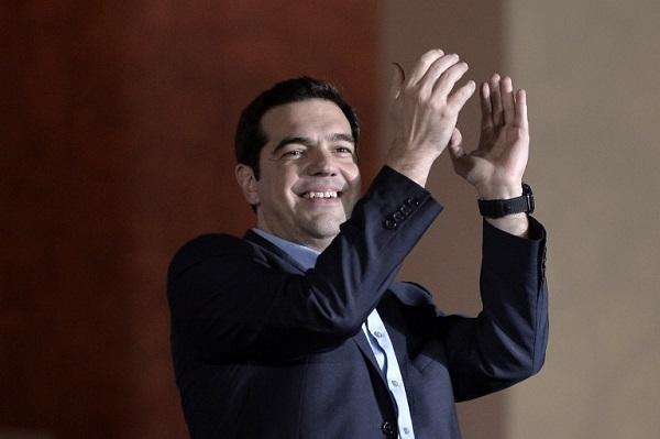 希臘極左派政黨Syriza領袖Alexis Tsipras (圖:AFP)