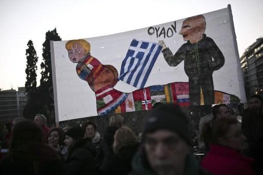 希臘街頭反撙節示威群眾      (圖:AFP)