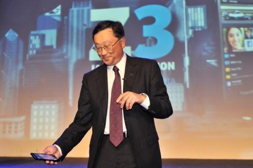 黑莓執行長程守宗將智慧型手機市場押注在新手機 Priv 身上。 (圖:AFP)