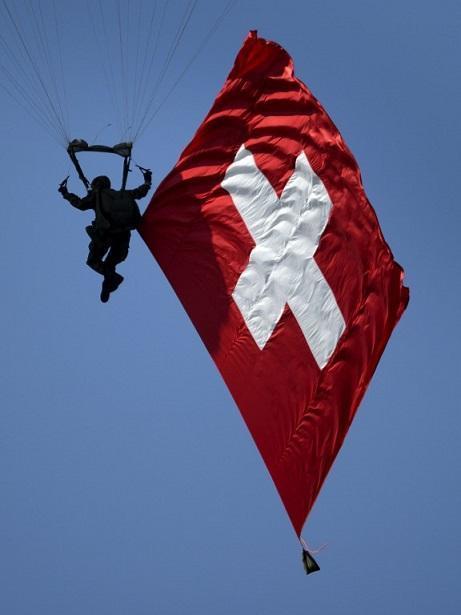 瑞士國旗 (圖:AFP)
