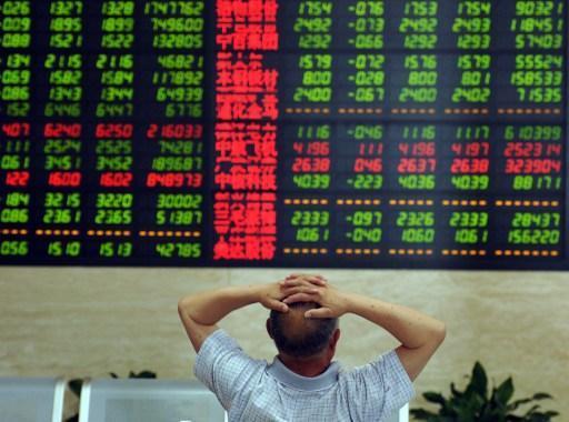 上證指數上週下跌 13% (圖:AFP)