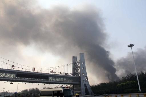 天津港12日發生爆炸(圖:AFP)