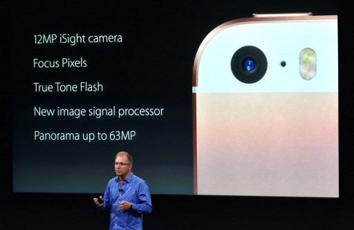 蘋果發表會現場推出小一號iPhone SE與iPad Pro(圖:AFP)
