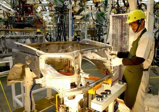 泰國豐田汽車製造廠。(圖:AFP)