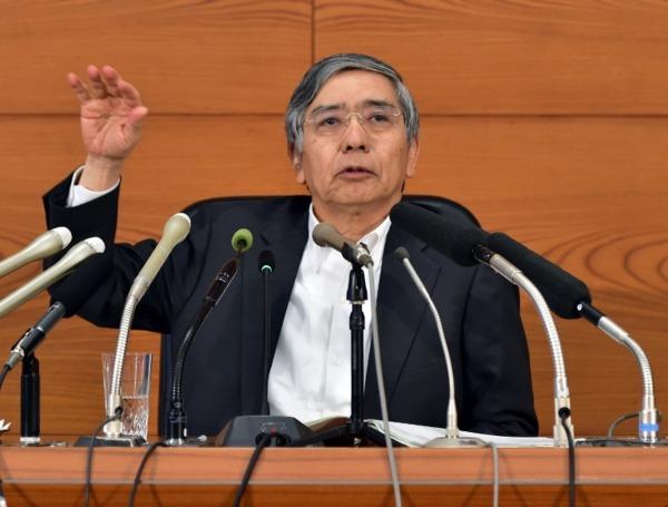 黑田東彥。(來源:AFP)