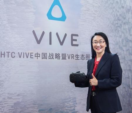 張嘉臨澄清王雪紅身為董事長暨執行長,是為了公司要把VR這件事做好。(資料照,圖:宏達電提供)