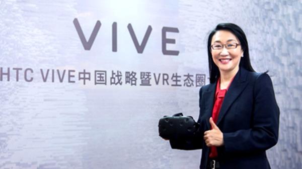 宏達電董事長王雪紅看好VR前景。(資料照,圖:宏達電提供)