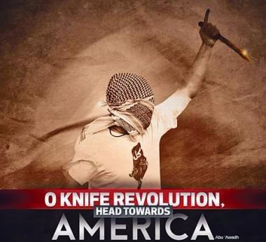 「基地」組織的網上雜誌呼籲美國的追隨者,仿效巴勒斯坦激進分子持刀襲擊平民。  圖片來源:星島日報