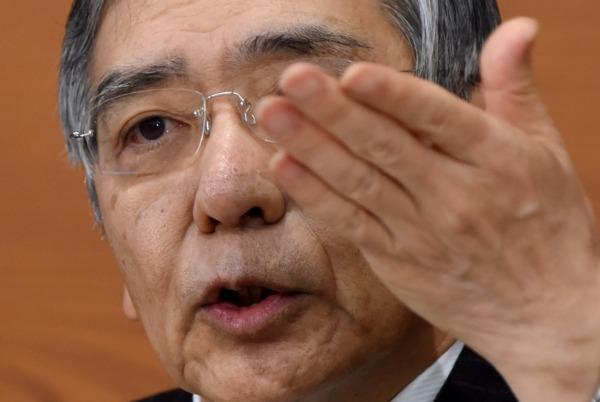 日本央行總裁黑田東彥 () 圖片來源:afp
