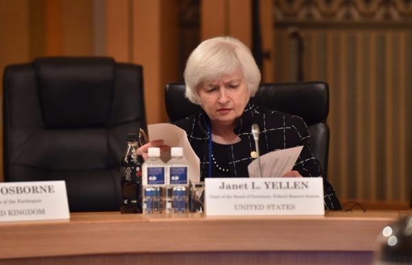 圖:AFP Fed主席葉倫上