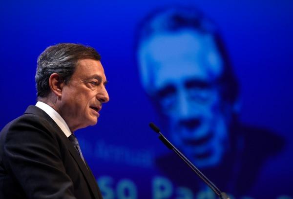 歐洲央行 (ECB) 總裁德拉吉 (Mario Draghi) 圖片來源:afp