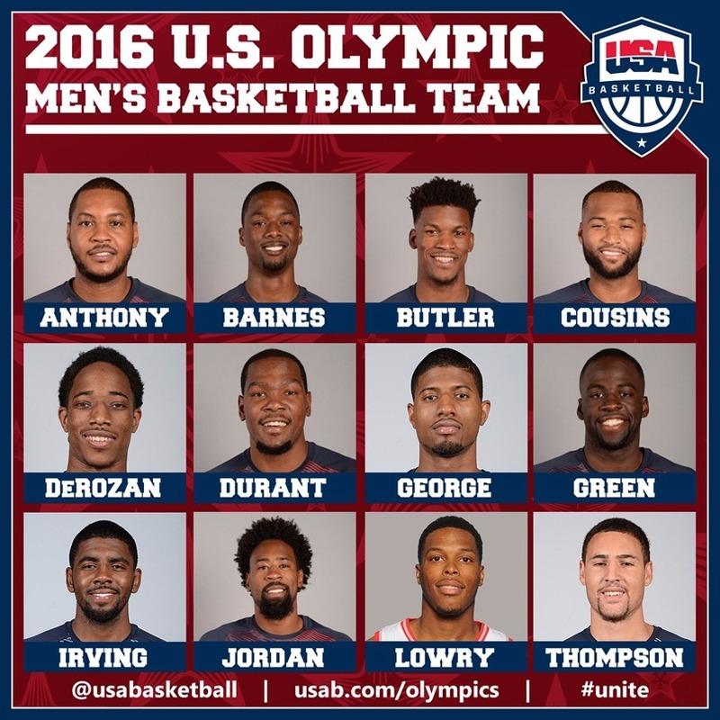 美國夢幻籃球隊顯赫耀眼  (圖:美籃官網)