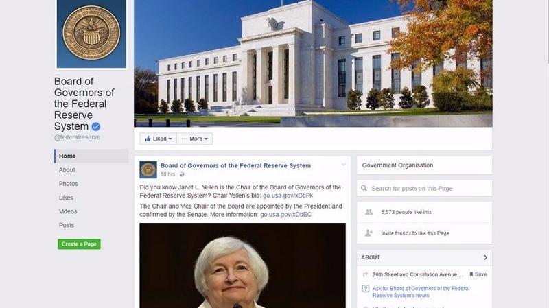 美國聯準會官方粉絲專頁 圖片來源:Facebook