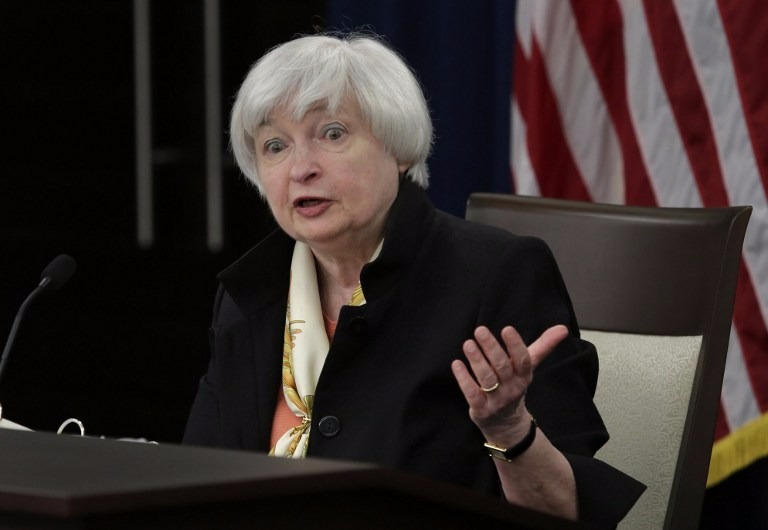 市場觀望Fed主席葉倫周五(26日)晚上在Jeckson Hole座談會的演說。 (圖:AFP)