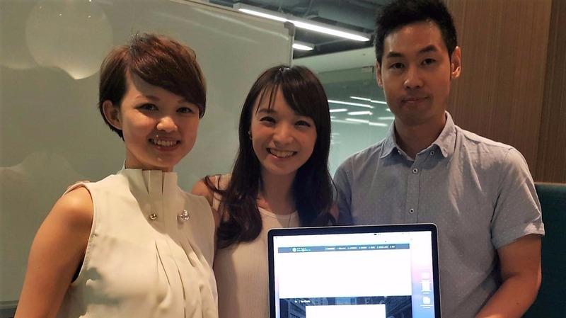 MacroMicro 財經 M 平方陳佳茹、陳雅姍、王達懋,站在 Fintech 的浪潮,打造投資地圖。(鉅亨網記者宋宜芳攝)