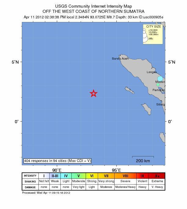 印尼外海傳8.7級地震 發布海嘯警報