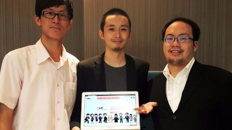 My83保險網(左)主要軟體研發工程師柯政祥、(中)產品經理陳品任、(右)保險資訊顧問鄭為之。要教保戶買對保單不買貴。(鉅亨網記者宋宜芳攝)