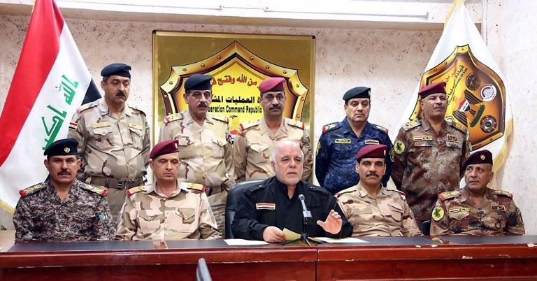 伊拉克總理阿巴迪昨凌晨宣布,伊軍正式展開收復摩蘇爾戰役。  (圖:AFP)