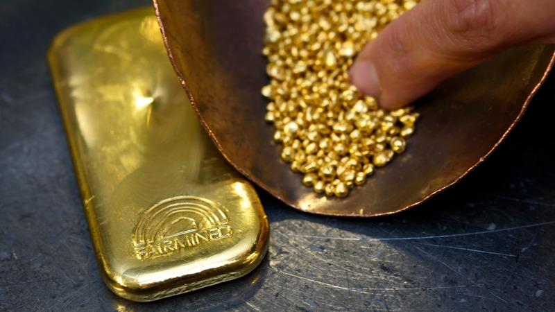 美元指數大漲金價大跌。 (圖:AFP)