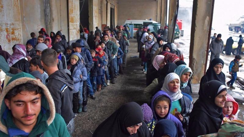 阿勒頗戰火頻仍,民眾流離失所。  (圖:AFP)