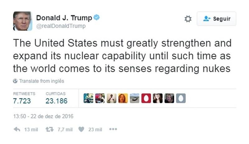 「美國必須增加且擴大核能,直到全球都對核武有共識。」