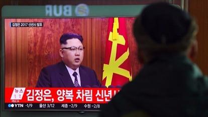 金正恩在新年講話時表示,洲際導彈試射準備進入最後階段。  (圖:AFP)