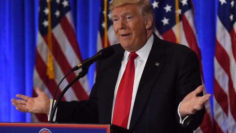 川普再本週三記者會上談俄國與他的企業經營相關事宜,未提及經濟政策與國際關係。((圖:AFP)