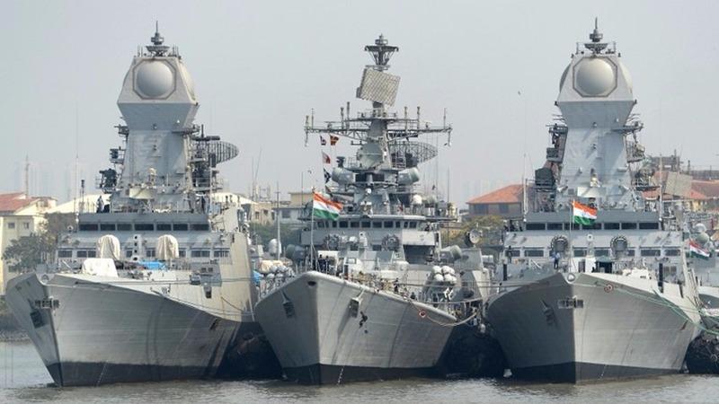 美國國防部要求撥款5000億美元建造355艘軍艦,以應對中國在海上逐漸壯大的威脅與俄羅斯的崛起。  (圖:AFP)