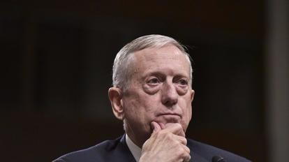 美準防長馬提斯說,美國多屆政府和兩黨長期維持一中政策。  (圖:AFP)
