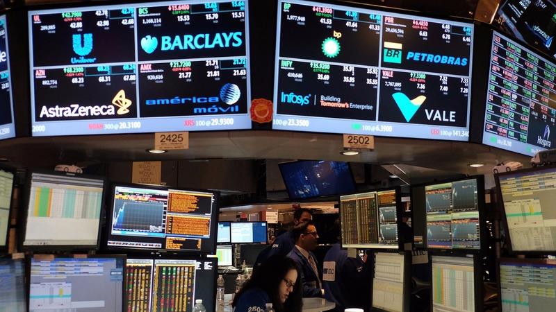 圖:AFP 美國股市週五進行整理