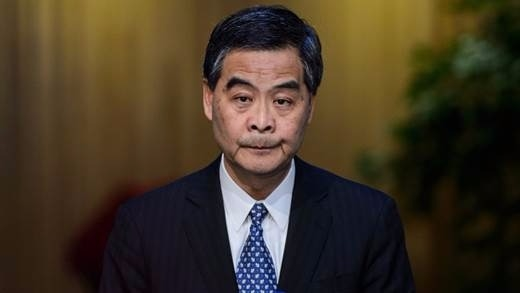 (圖五;梁振英說,AIIB、絲路基金與一帶一路是香港核心商機,AFP)