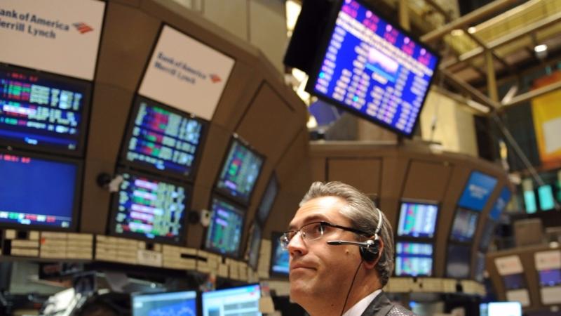 圖:AFP  美國股市週一中場大漲