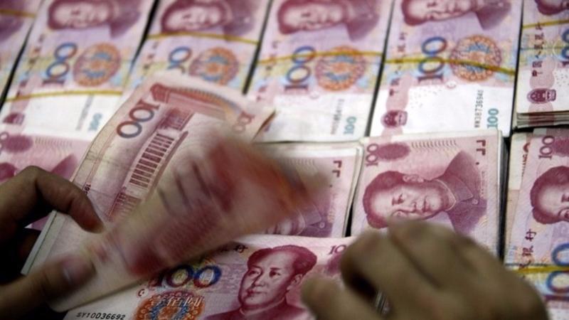 人行昨天在公開市場重啟逆回購,合計共1000億元人民幣。 (圖:AFP)