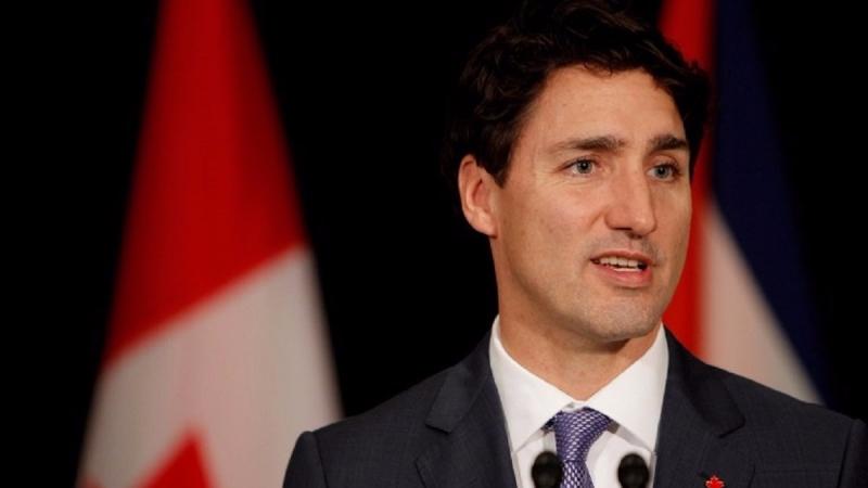 川普在週一(13日)表示,美國將「微調」與加拿大的貿易關係。(圖片來源:AFP)