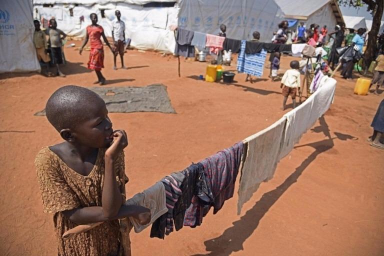 南蘇丹戰亂加上乾旱,人民流離失所。  (圖:AFP)