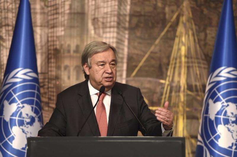 聯合國秘書長古特雷斯(Antonio Guterres)13日發表聲明,強烈譴責北韓12日再次發射彈道導彈。 (圖:AFP)