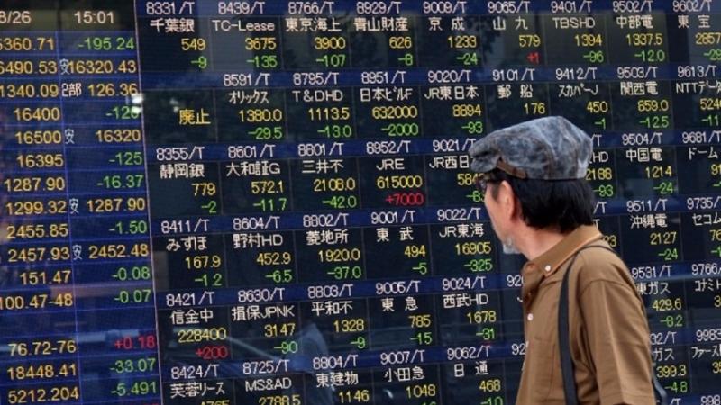 亞股今日漲跌互見,亞股大部份皆呈現下滑態勢。(圖片來源:AFP)