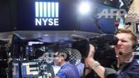 圖:AFP  美國股市週二再度收高