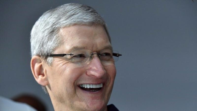蘋果執行長庫克。(AFP)