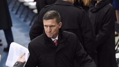 美國國家安全顧問弗林因與俄羅斯大使通電話涉及違規,在周一辭職。 (圖:AFP)