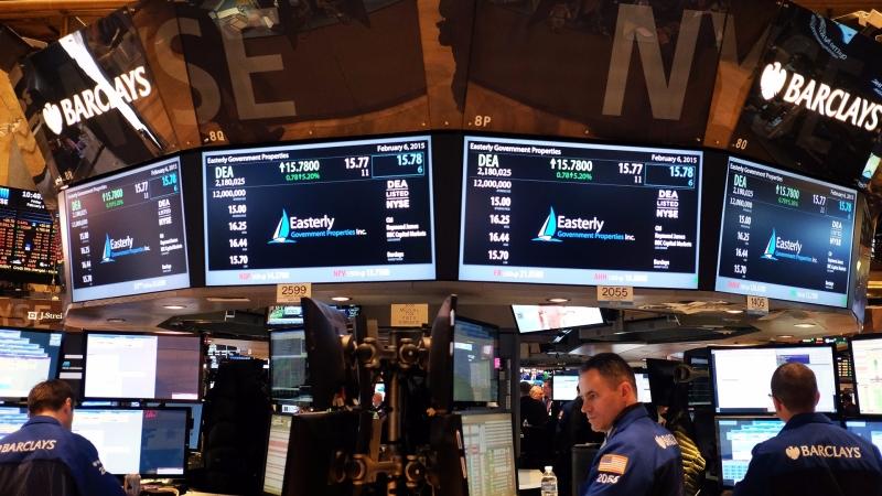 圖:AFP  美國股市週三中場持續上漲