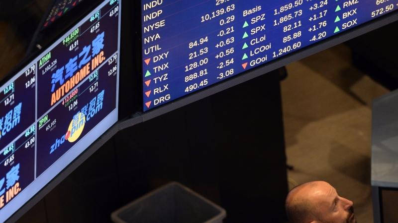 圖:AFP  美國股市連五日創新收盤高點