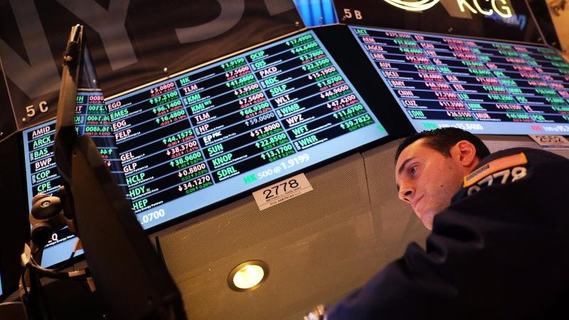 圖:AFP 美國指數期貨盤前小幅回檔整理